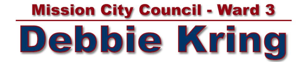 Debbie Kring for Mission City Council